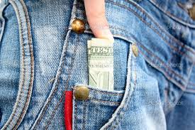 money in jeans